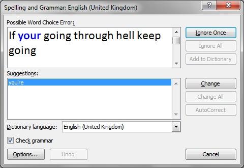 Grammar cheack
