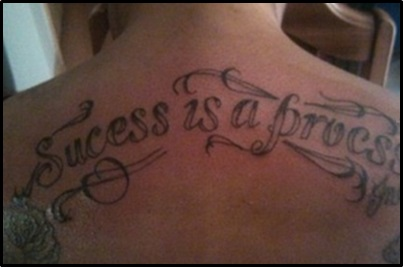Tattoo Fail Misspelling