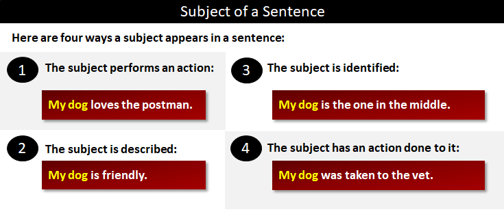 Subject of a Sentence | What is the subject of a sentence?