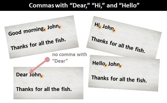 A Comma With Dear O And Hi