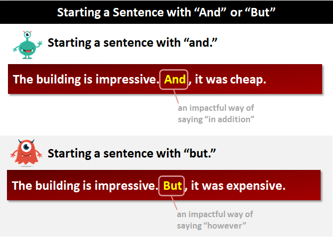 Starting A Sentence With And Or But