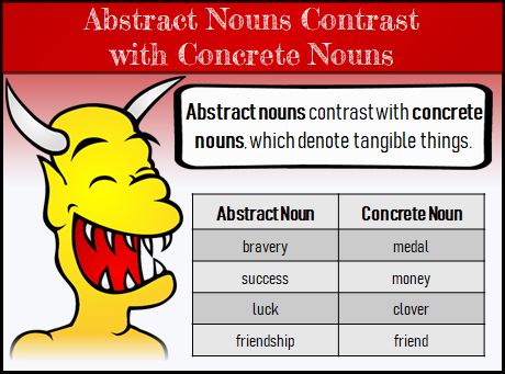 What Are Concrete And Abstract Nouns
